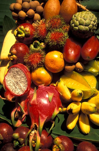 Stock Photo: 4292-32748 Tropical and thai fruits