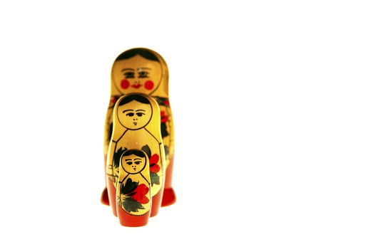 Stock Photo: 4292-33035 Matryoshka, Russia