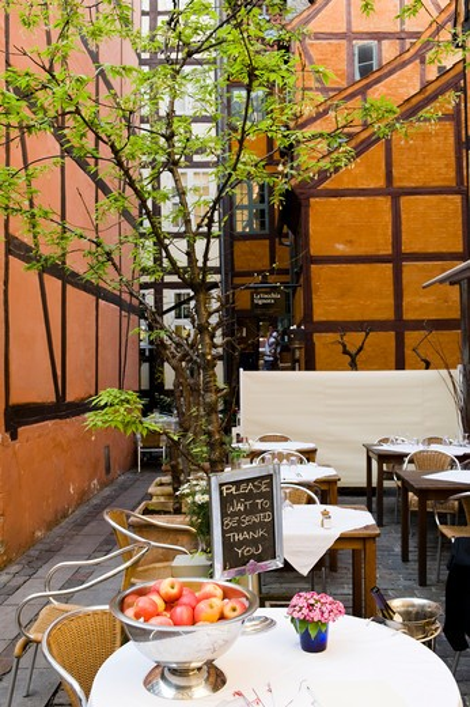 Denmark,Copenhagen, restaurant detail : Stock Photo