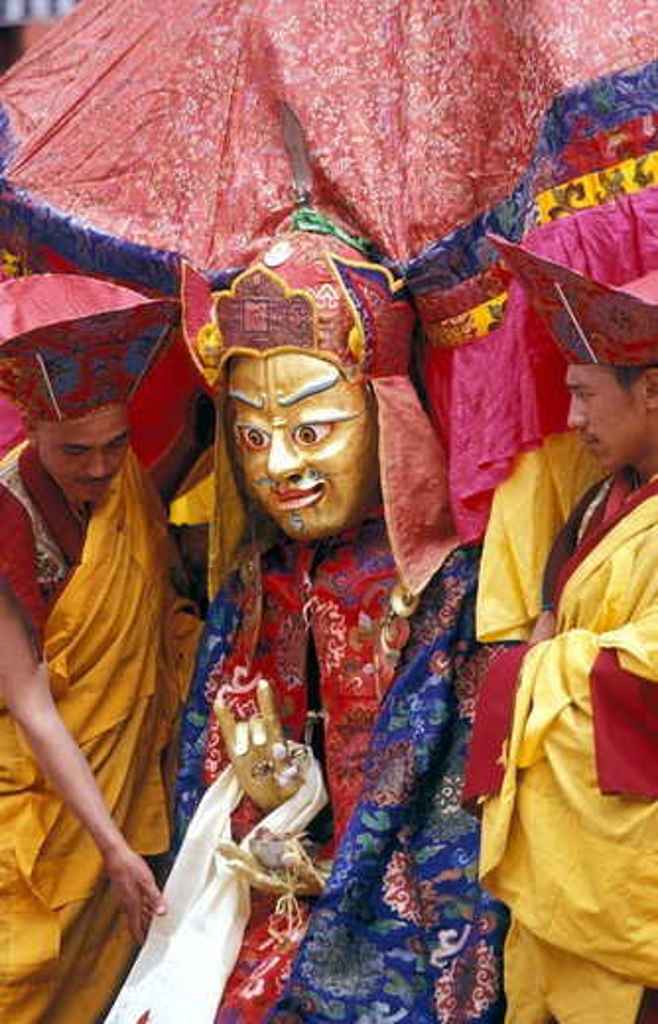 Stock Photo: 4292-33317 India, Jammu and Kashmir, Ladakh, Hemis, Hemis Tsechu Buddhist Festival