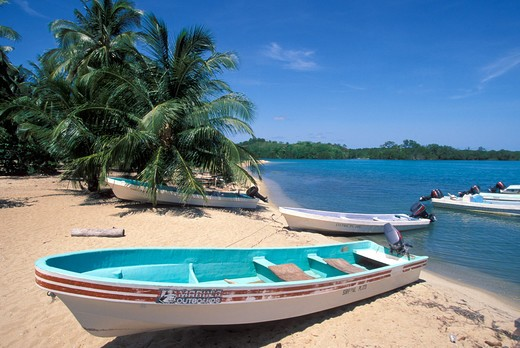 Stock Photo: 4292-33463 Belize, Placencia, boats