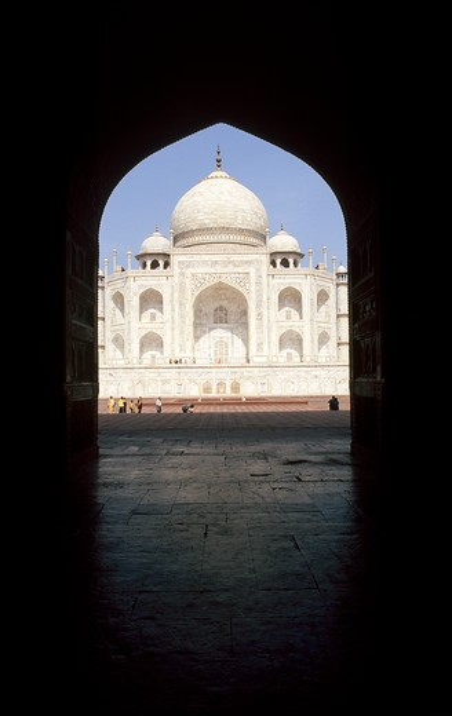 India, State of Uttar Pradesh, Agra, Taj Mahal : Stock Photo