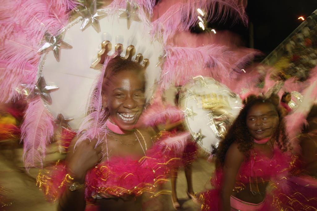 Stock Photo: 4292-34103 Brazil, Rio De Janeiro, Carnival of Rio, women at parade
