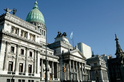 Stock Photo: 4292-34280 Argentina, Buenos Aires. National Congress building