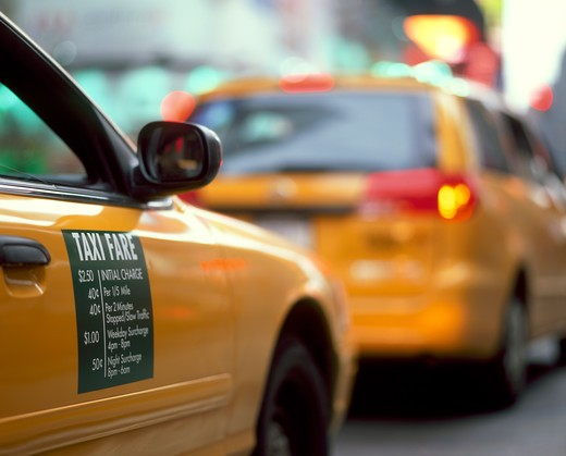 Stock Photo: 4292-34763 Taxi cabs in Midtown Manhattan, New York, NY