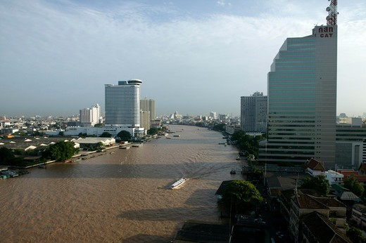Stock Photo: 4292-34982 Thailand, Bangkok. Chao Praya River