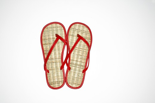 Still life of a pair of flip-flop : Stock Photo