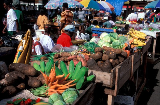 Stock Photo: 4292-36043 Grenada St.George's People at Saturday market