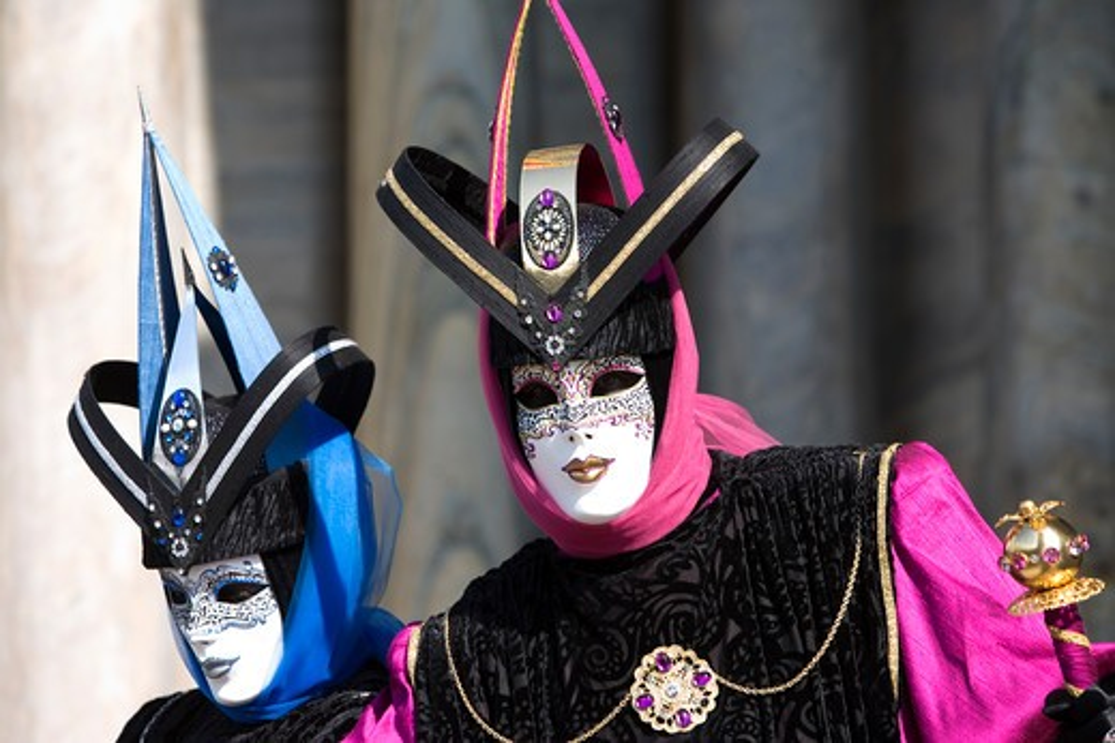 Stock Photo: 4292-36640 Italy, Veneto, Venice, carnival masks