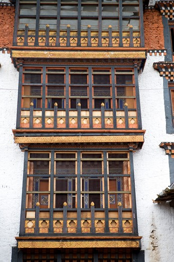 Bhutan, Thimphu. Thimphu Dzong : Stock Photo