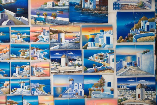 Stock Photo: 4292-37217 Greece. Cyclades Islands. Mykonos,painting, souvenir.