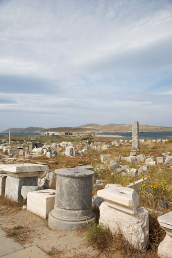 Stock Photo: 4292-37235 Greece, Cyclades Islands, Delos, ruins.