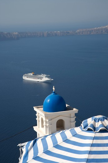 Greece, Cyclades Islands, Santorini, Imerovigli : Stock Photo