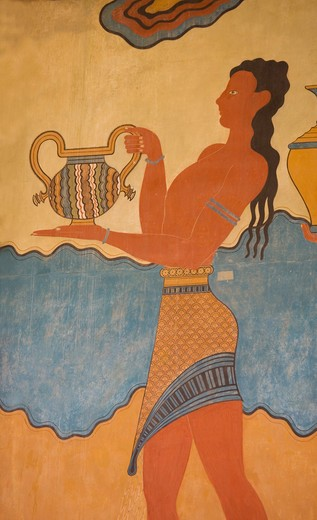 Stock Photo: 4292-37584 Greece, Crete, Knossos, frescos