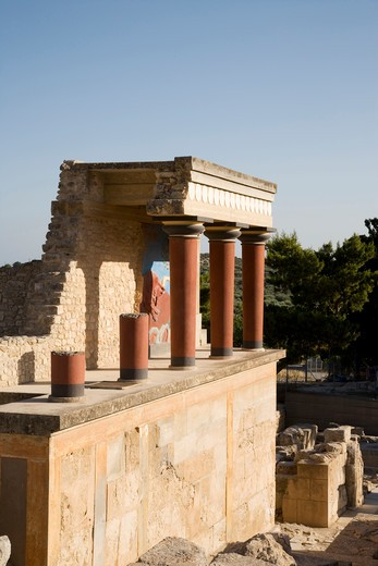 Stock Photo: 4292-37586 Greece, Crete, Knossos Palace