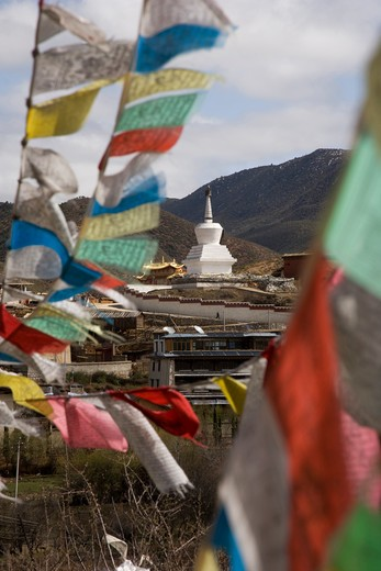 Stock Photo: 4292-38206 China, Yunnan, Shangri-La (Zhongdian), Ganden Sumtseling Gompa monastery