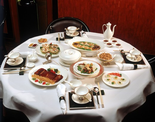 Stock Photo: 4292-40948 China, Shanghai, elegant restaurant