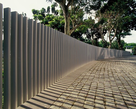 Stock Photo: 4292-42223 Stone fence of contemporary design