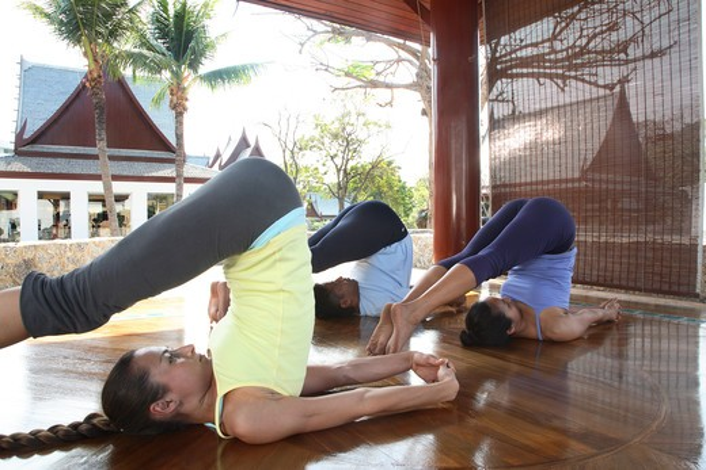 Yoga at the Chiva Som Spa in Hua Hin, Thailand : Stock Photo