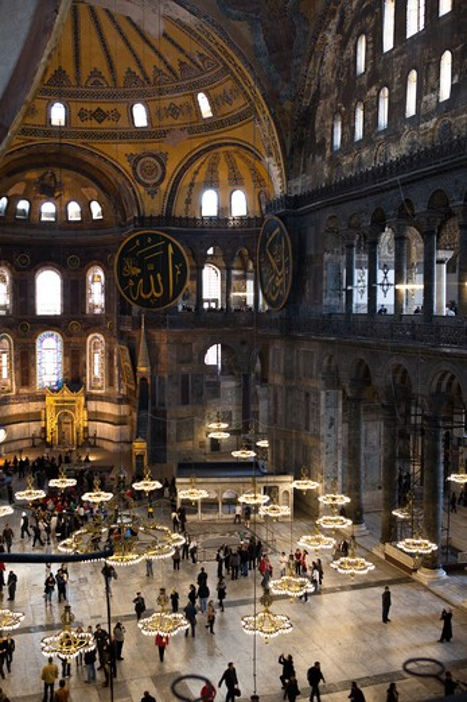Stock Photo: 4292-4313 Turkey, Istanbul, interiors of Agia Sofia