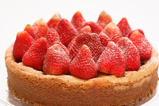Stock Photo: 4292-43163 Strawberry cake dessert