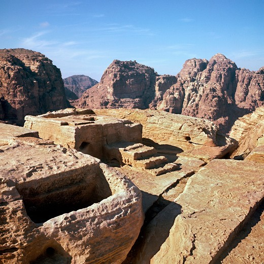 Stock Photo: 4292-43221 Altar, Petra of the Nabateans. Jordan
