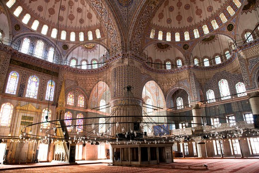 Stock Photo: 4292-4327 Turkey, Istanbul, The Sultan Ahmed Mosque