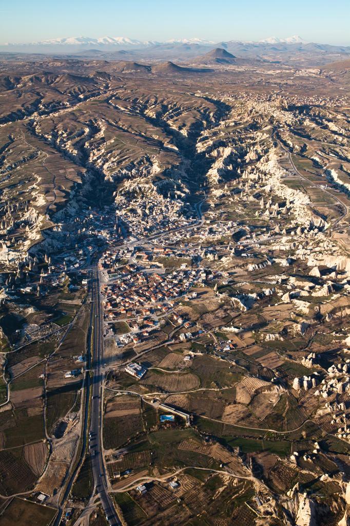 Turkey, Anatolia, Cappadocia, volcanic landscapes and eroded rocks : Stock Photo