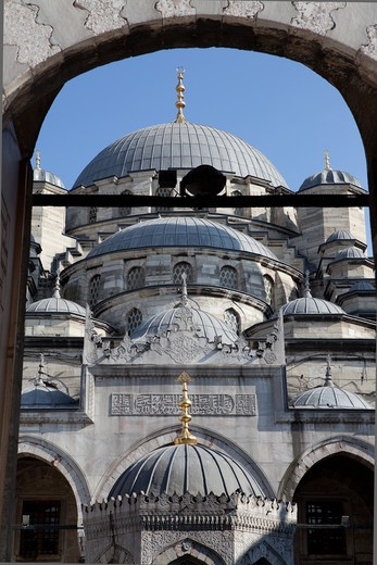 Stock Photo: 4292-4378 Turkey, Istanbul, New Mosque