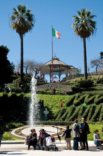 Stock Photo: 4292-4406 Italy, Sicily, Catania, Bellini Garden, Fountain