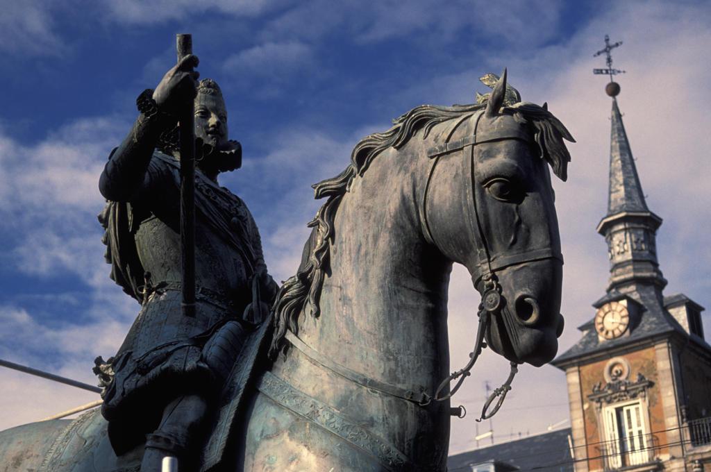 Spain, Madrid, Plaza Mayor : Stock Photo