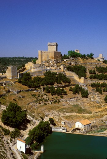 Stock Photo: 4292-44359 Castle of Alarcon. Cuenca, Spain.