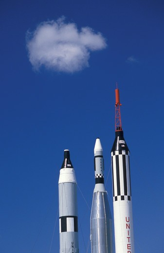 Rockets, Kennedy Space Center, Florida, USA : Stock Photo