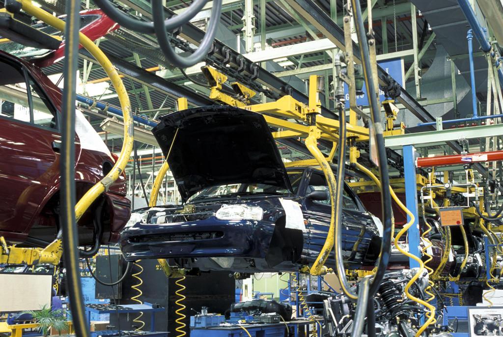 Spain, Valencia: Fiat automobile assembly plant : Stock Photo