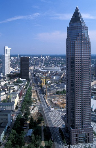 Stock Photo: 4292-44575 Germany, Hessen, Frankfurt am Main, The Messeturm