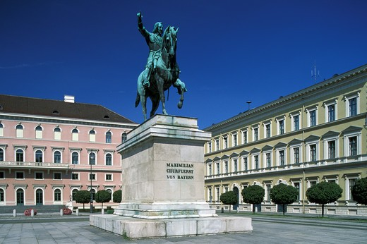 Stock Photo: 4292-44623 Germany, Bavaria, Munich, monument to elector Maximilian