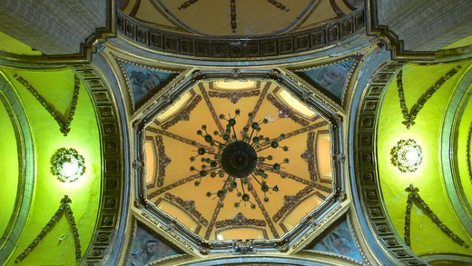 Stock Photo: 4292-45001 Mexico, Mexico City, Iglesia de la Santa Veracruz, the ceiling