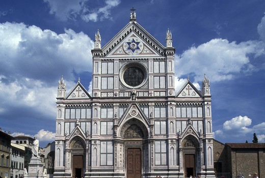 Stock Photo: 4292-45084 Italy, Tuscany, Florence, Santa Croce Church