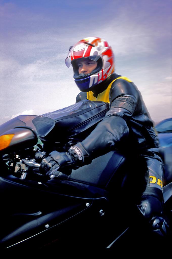 Stock Photo: 4292-45188 Motorcyclist