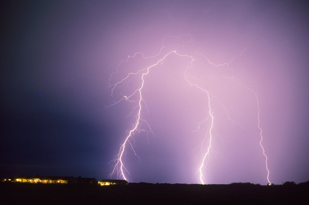 Lightning in the Sky : Stock Photo