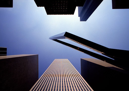 USA, New York, 6th Ave, buildings : Stock Photo