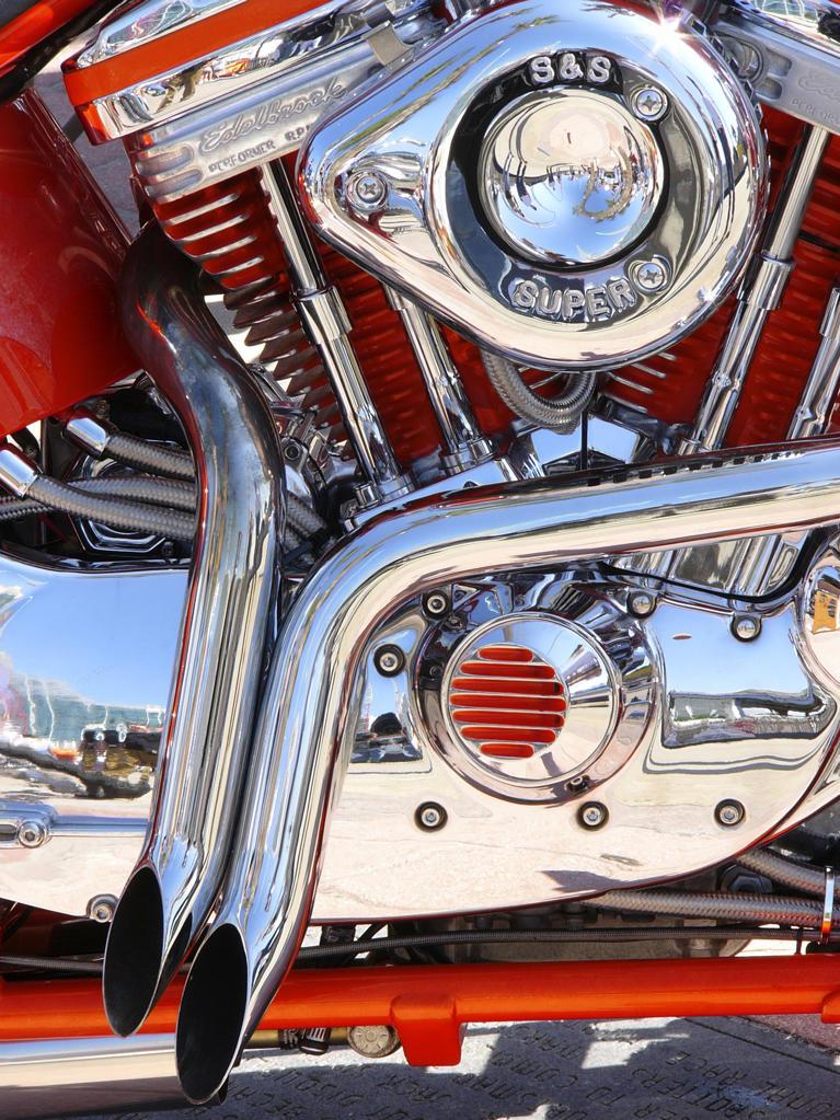 Stock Photo: 4292-45756 Motorcycle engine