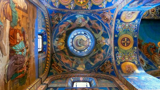 Stock Photo: 4292-45839 Ceiling.Church on Spilled Blood, St Petersburg, Russia