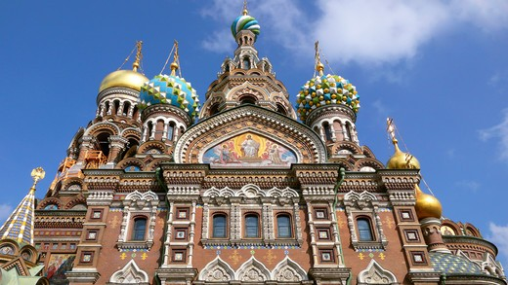 Stock Photo: 4292-45841 Russia, St. Petersburg. Savior Blood Church