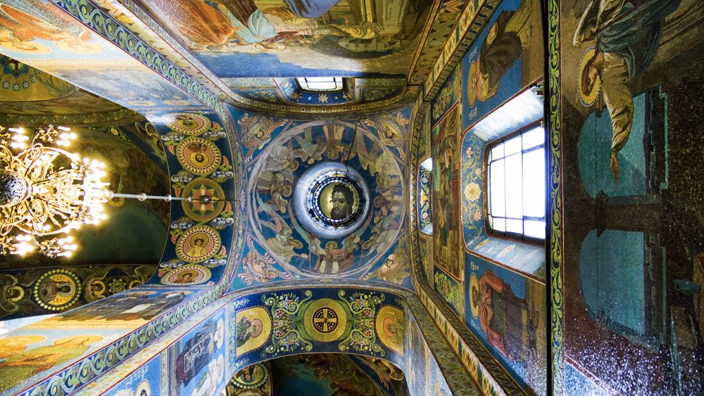 Russia, St. Petersburg, interiors of the Church on Spilled Blood : Stock Photo