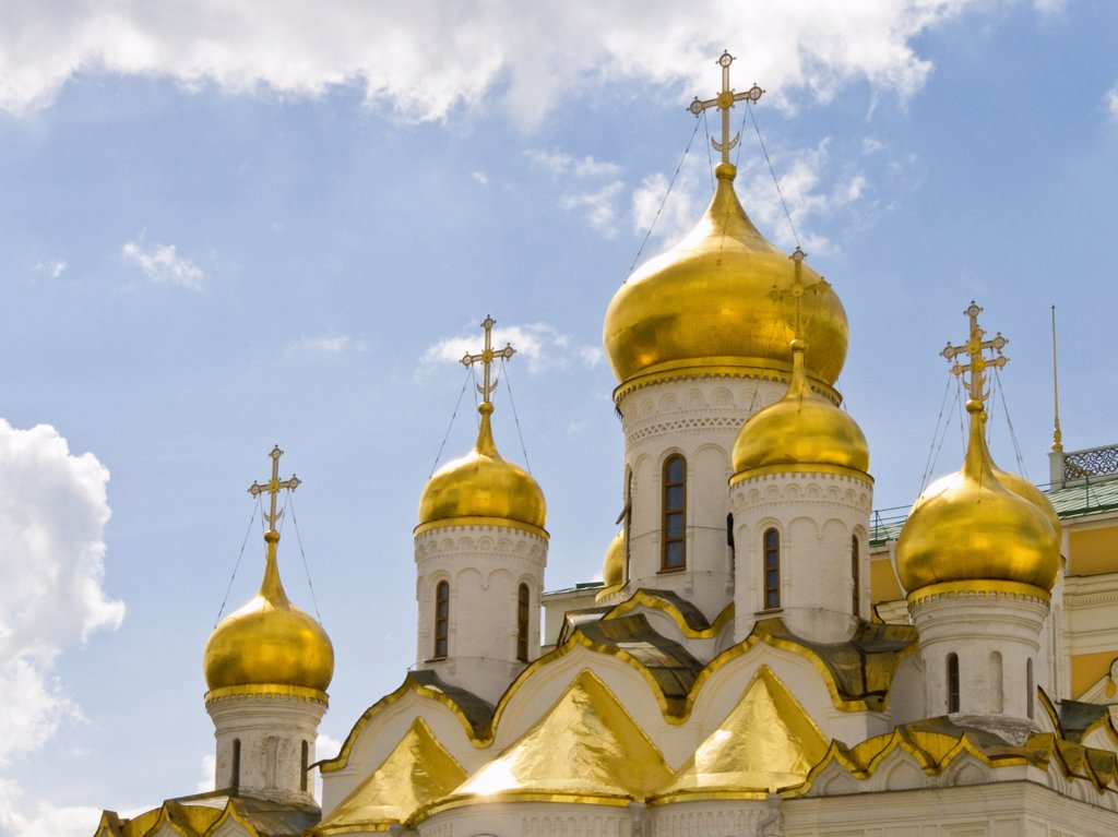 Stock Photo: 4292-46303 Russia, Moscow, Kremlin, The Annunciation Cathedral
