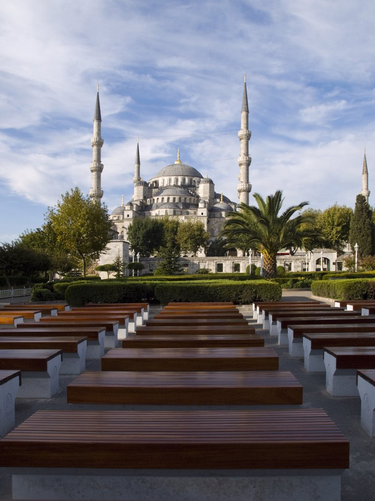 Stock Photo: 4292-46437 Turkey, Istanbul, Sultanhamet Mosque, Blue Mosque