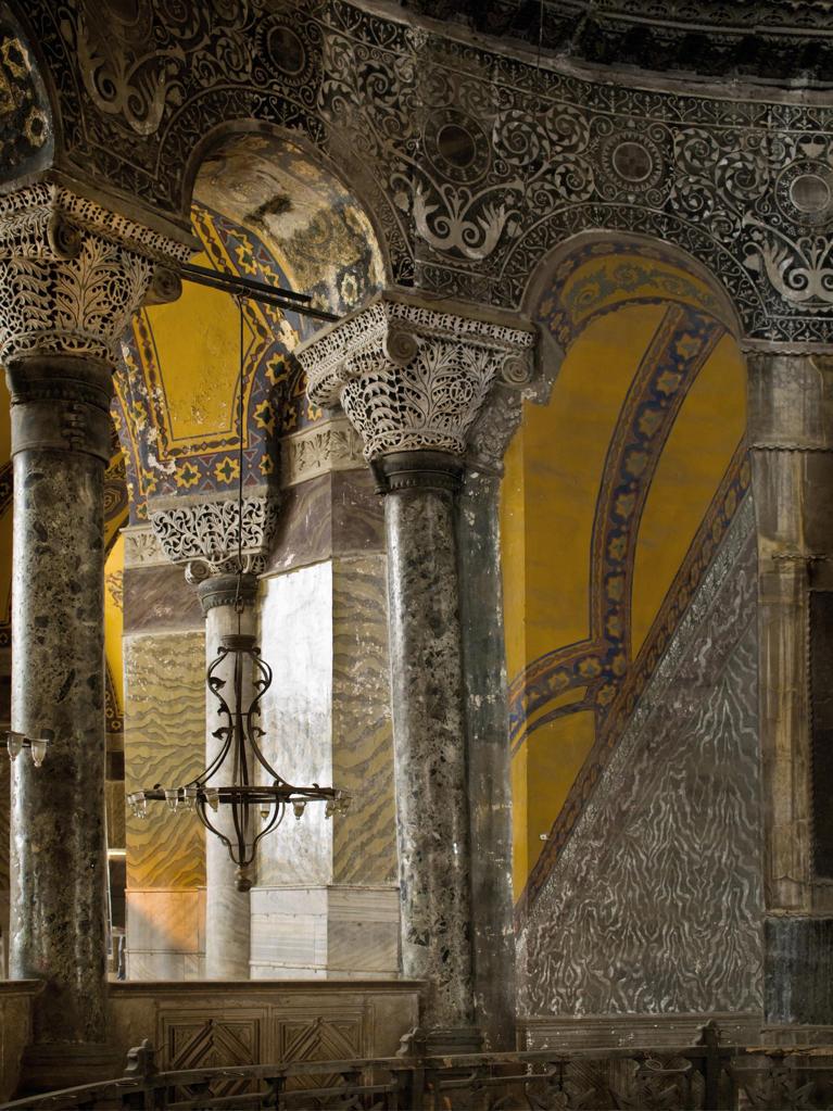 Turkey, Istanbul, interiors of Agia Sofia : Stock Photo