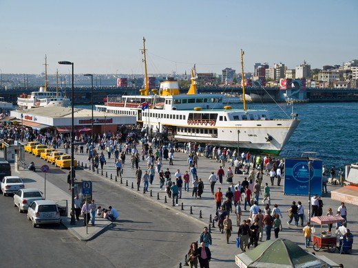 Stock Photo: 4292-46455 Turkey, Istanbul, Bosphorus, Eminou ferry pier