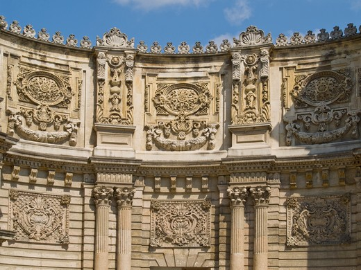 Stock Photo: 4292-46471 Turkey, Istanbul, Dolmabache palace, detail of the main gate